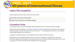 IH60 Lesson Plan competition details